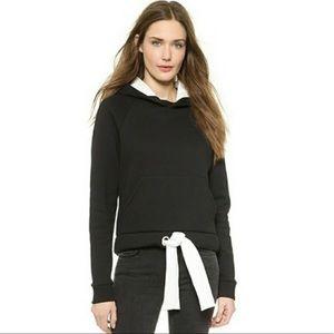Acne Vania Black Pullover Hoodie